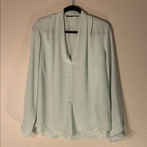 Rose and olive Mint colored blouse